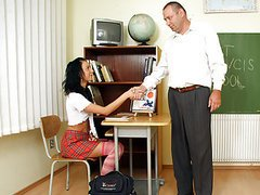 Horny teacher fucking one of his hot..