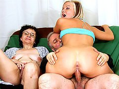 Mature Couple Fuck a Stunning Blonde Teen In a Hot Threesome