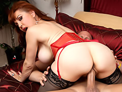 Big ass chick in stockings fucked