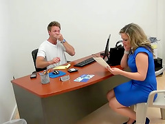Office Hardcore Action with Blonde MILF Carmen Valentina