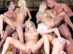 Orgy with hot blondes