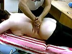 Old Lady Gets A Great Massage