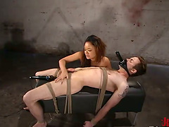 Pegging and Clothespin Torture in Femdom BDSM Vid with Annie Cruz