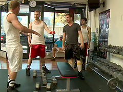 Gay gym story of how a simple guy got trapped and fucked by fags