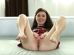 Misha Cross enjoys naughty solo