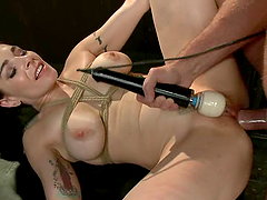 Passionate Annika is being nailed deep..