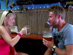 Blonde mom Veronica seduces a barman..