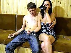 Horny Drunk Amateur Brunette..
