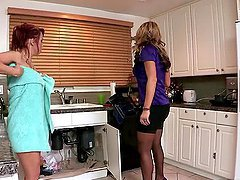 Hot Lesbian Action Between The..