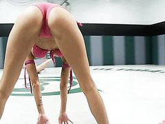 Insatiable Babes Wrestle For One Another's Shaved Pussies