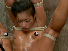 Bondage video with superb Skin Diamond getting toyed