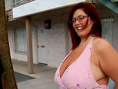 Sexy Redhead BBW With Huge Tits Fucked..