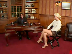 Office Domination Action with Blonde..