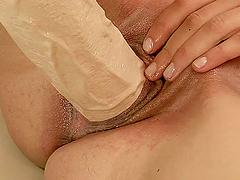 Sexy brunette Betty Stylle enjoys..
