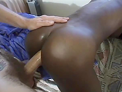Ebony Chick Sucking A Big White Cock &..