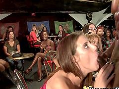 Party Girls Sucking Stripper's Dick.