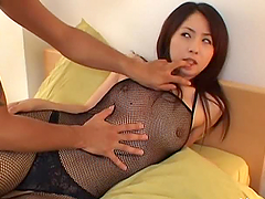 Sexy Japanese Babe In Crotchless..