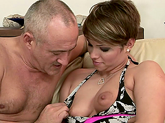 Sexy milf loves when he plays with her..
