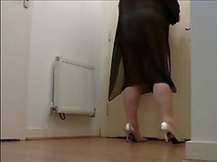 Voyeur Hidden Cam in Mature Lady's Apartment