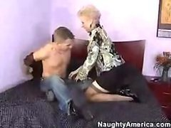 Sexy Mature Cougar Mrs Jewell Gets a Teen Stud's Cock To Suck and Fuck