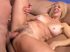 Hairy Pussied MILF Enjoying a Good Fuck