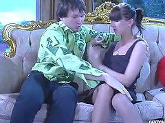 Hot Pantyhose Scene With The Sexy Teen..