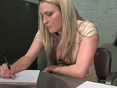 Strapon Dildo Fucking in Bondage..
