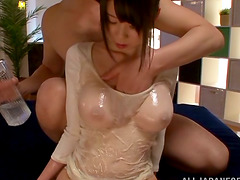 Super oiled up and slippery sex with..