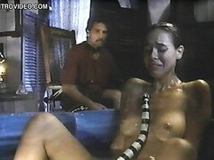 Brigitte Bako Shows Her Round Boobs..