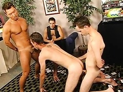 Hot Gay Threesome Action