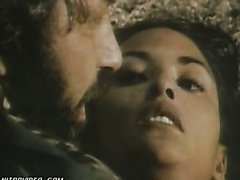 Soldier Can't Resist Laura Gemser's Sexiness