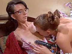 Lily M And Aubrey Heat Up The Place In..