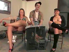 Two Dominant Girls Spanking and Riding..