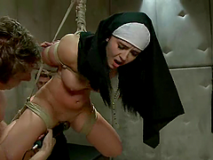 BDSM style double penetration for a..