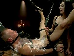 Extreme Bondage and Femdom Session..
