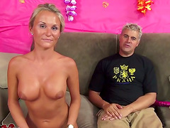 Slutty Blonde MILF Masturbating And..