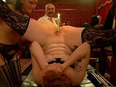Dirty BDSM style orgy with black cocks..