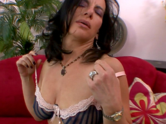 Brunette MILF with Natural Tits Melissa Monet Giving Head for Jizz