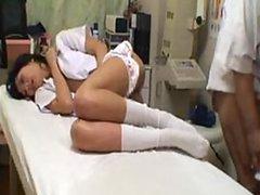 Slutty Asian Teen Gets Banged Hard On..