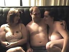 Chubby Amateur Babes Sharing a Cock In..