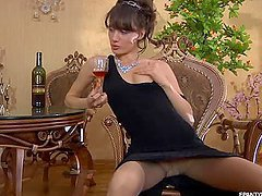 Viola Masturbates With Hot Pantyhose..