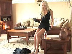 Hottest Amateur Reality Action With Blonde in High Heels