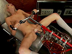 Layden Sin gets her pussy stunningly pounded by a sex machine
