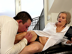 Filthy granny is getting dicked deep..