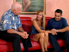 Nasty Husband Let His Blonde Wife With..