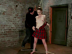 Petite Jessi Palmer gets whipped and..