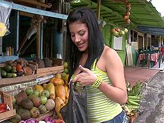 Hot Juliana rides big dick and eats..