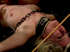 Cherry Torn gets choked and whipped by..