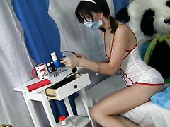 Dressed Up Nurse Girl Gets A Pounding..