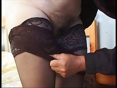 Chubby Grey-Haired Granny Gets Fucked..